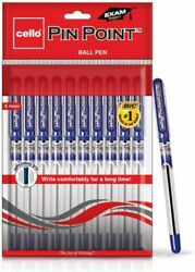 Cello Pinpoint Ballpoint Pens- Blue Pack Of 10 Pen