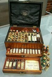 Quality Antique C1870s Victorian Homeopathy Set By Edwin S Clifton Of Ipswitch