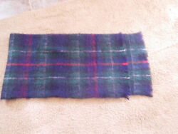 Vintage Mackenzie Mohair Wool Plaid Scarf Made In Scotland 60 X 18andrdquo Free Ship