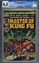 Special Marvel Edition 15 Cgc 6.5 Fn+ Owp 1st Shang-chi Master Of Kung Fu 1973
