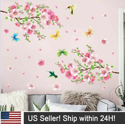 Cherry Blossom Flower Wall Decals Floral Tree Branch Wall Stickers Bedroom Decor