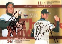 Shohei Ohtani 2013 Bbm Then Now Fighting Hams Rookie Rc Baseball Card Red Sign50