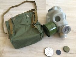 Vintage Soviet Russian Pmg Gas Mask Size 3 Original Rare Military Free Shipping