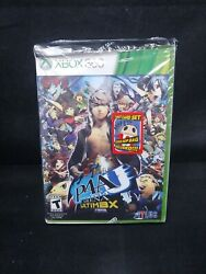 Persona 4 Arena Ultimax W/ Tarot Card And Teddie Bop Bag Xbox 360 Brand New