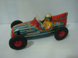 Toy Old In Sheet Marusan Friction Jet Car Vintage Toys Tin Made In Japan 50s