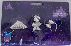 Disney Minnie Mouse Main Attraction Space Mountain Ears Series 1/12 Set Pins