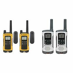 Motorola Talkabout T402 Rechargeable Two-way Radios 2-pack And T260 Talkabout R...