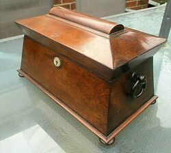Antique Georgian C1820 Regency Tea Caddy, With Two Removable Interior Caddies