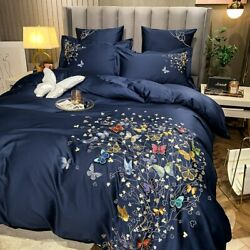 Luxury 600tc Egyptian Cotton 6d Three-dimensional Butterfly Princess Style