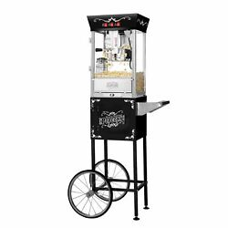 Great Northern Matinee Antique Style Popcorn Popper Machine W/cart, 8 Ounce