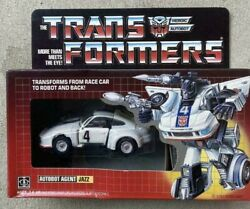 Transformers G1 Jazz Heroic Autobot Agent Hasbro Race Car Vintage Toy A583