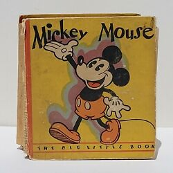 Disneyand039s Mickey Mouse Big Little Book 717 1st Mickey Blb 1933