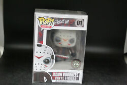 """Funko Pop Movies """"friday The 13th"""" Jason Voorhees 01 Chase [green Glow] Rare"""