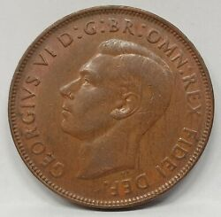 Australia 1951y. Penny . Unlisted Variety . Faulty E In Georgivs . And More