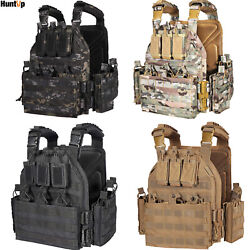 Tactical Vest Military Molle Shield Plate Carrier Combat Padded Body Gear Armor