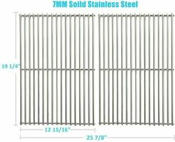 Bbq Grill 19 1/4 Stainless Steel Cooking Grid Grates 2pcs For Jenn-air Nexgrill