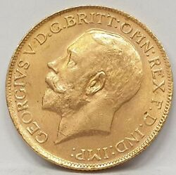 South Africa 1927 . One Full Sovereign . Gold . Auncirculated