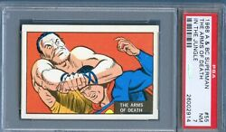 1968 A And Bc Superman In The Jungle 55 The Arms Of Death Trade Card Psa 7
