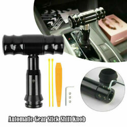 Universal Automatic Aluminum Car Gear Stick Shift Knob Lever Shifter With Button