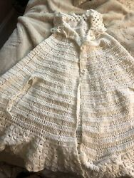 Vintage/ Antique Crocheted White Cape Costume One Size 29andrdquolong