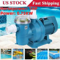 1hp 7500w Swimming Pool Filtration Circulating Water Pump Equipment With Suction