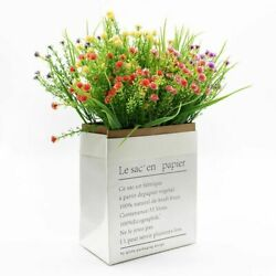 Gypsophila Flower Artificial Plants Bouquet Of Leave 5 Forks For Home Accessorie