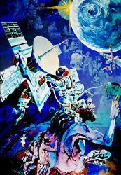 Spaceship Earth Mural Entrance Poster Technology