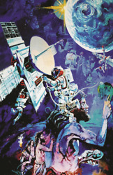 Epcot Spaceship Earth Mural Poster Print 11x17 Our Shared Story Caveman Spaceman