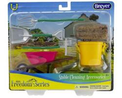 New Breyer Stable Cleaning Accessory Set Freedom 1:12 Scale 61074