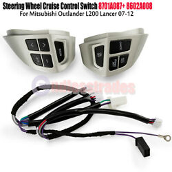 2x For Mitsubishi Outlander L200 Lancer Asx Steering Wheel Cruise Control Switch