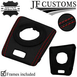 Red Stitch Leather Smg Automatic Gear Surround Trims For Bmw E46 M3 99-05