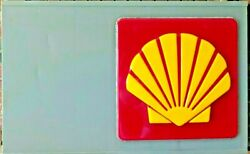 Vintage Original Shell Oil Company Embossed 24 Sign Mounted On A Display Board