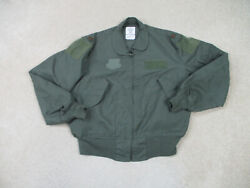 Air Force Jacket Adult Large Green Type Cwu Coat Summer Fire Resistant Mens