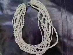 Tens Trands 5-7mm South Sea White Pearl Necklace