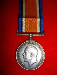 Ww1 British War Medal To Norman Military Foot Police