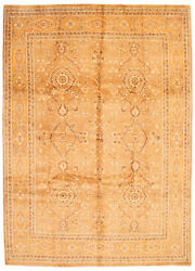 Vintage Tribal Area Rug 9'4 X 13'3 Authentic Oushak Hand Knotted Wool Carpet