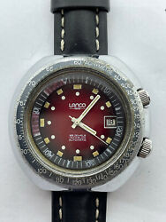 Vintage Lanco Compressor Automatic Cal 2083 As Swiss Made