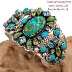 A+ Leo Feeney Turquoise Bracelet Sacred Earth Sonoran Gold Sterling Silver