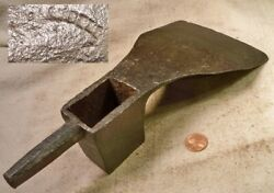 Vintage Hand Forged Shipbuilders Lipped Adze Head Working Old Tool Read