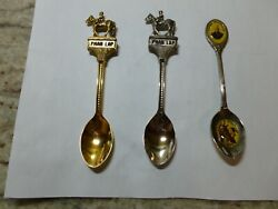 3 Phar Lap Souvenir Spoons - 1 With Tommy Woodcock