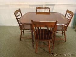 64689hitchcock Solid Cherry Drop-leaf Table And 4 Chairs