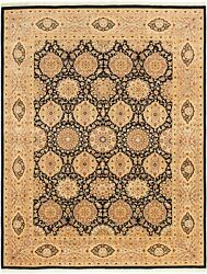 Vintage Hand-knotted Carpet 9and0392 X 11and03910 Traditional Oriental Wool Area Rug
