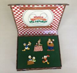Disney Picnic Time Boxed 5 Pin Set 22800 Mickey's Toontown Trading Event Le 400