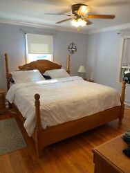 Cumberland King Bed Room Set Dresser W/ Wing Mirror Amor Two Night Stands