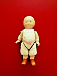 Antique All Bisque Doll Campbell Kid Character German Dollhouse