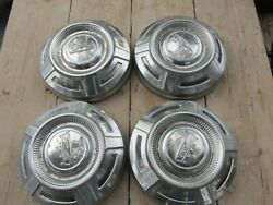 Vintage Ford Truck Stainless Steel Dog Dish 12 Inch Hubcap Set Of 4 1967 - 1972