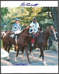 Secretariat - 8x10 Champagne Stakes Photo Signed By Ron Turcotte And Charlie Davis