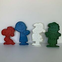 Lot Of 4 Vintage Peanuts Cookie Cutters -snoopy, Lucy, Charlie Brown And Linus