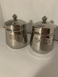 Coffee And Tea Canisters Containers Stainless Steel Made In India