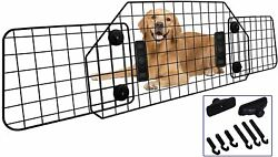 C Casimr Heavy-duty Dog Pet Wire Barrier Adjustable To Fit All Vehicles Black